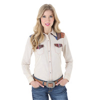Wrangler Women's Western Shirt with Serape Stripe