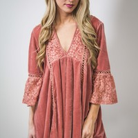 Luxe Velvet and Lace Tunic