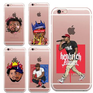 Kendrick Lamar & J Cole painting art Soft Silicone TPU Phone Case For iPhone 5 5S SE 6 6S Plus 7 7Plus 8 8Plus X 10 Back Cover