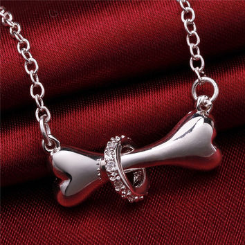 Dog Bone Rolo Bell Necklace