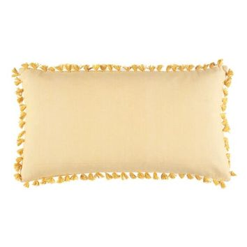 "Barbados Yellow Tassel Pillow - 14"" x 27""-For the Home 