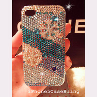 iPhone 4 Case, iPhone 4s Case, iPhone 5 Case, Bling iPhone 4s Case, iPhone 5 bling case, case iphone 4, Bling iphone 4 case snowflakes