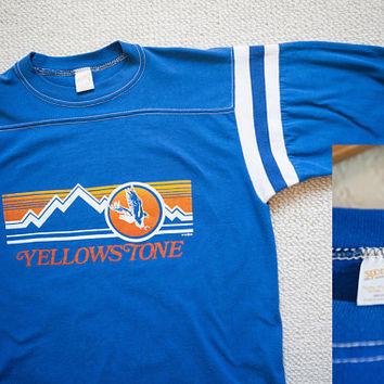 Vintage Yellowstone T-Shirt, Yellowstone National Park Vintage T-shirt