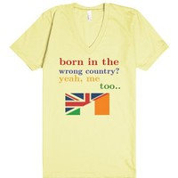 two countries - one love-Unisex Lemon T-Shirt