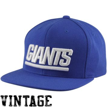 official photos 0c40b 37b8b Mitchell   Ness New York Giants Basic Vintage Logo Adjustable Hat - Royal  Blue
