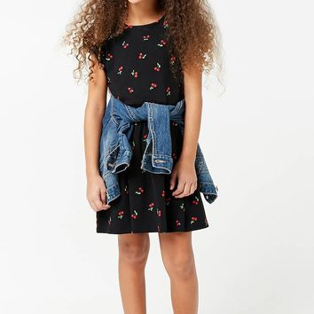 Girls Cherry Graphic Print Dress (Kids)