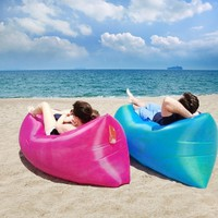 Out Sleeping Bag 260*70 cm Airbags Lazy Sofa Inflatable Air Sofa Bed Lazy Bones Beach Lounge Foldable Camping Fast Sleeping Bed