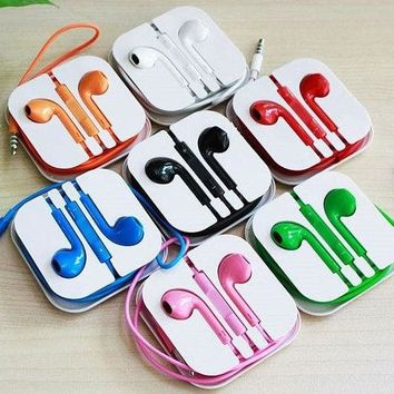DCCKUNT The New Colorful Earphones Earbud Headset Headphone for Apple iPhone