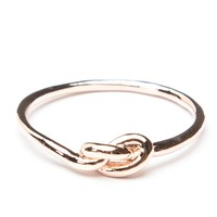 Brandy ♥ Melville |  Rose Gold Knot Ring - Rings - Jewelry - Accessories