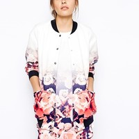 Finders Keepers Bomber Jacket in Ombre Floral