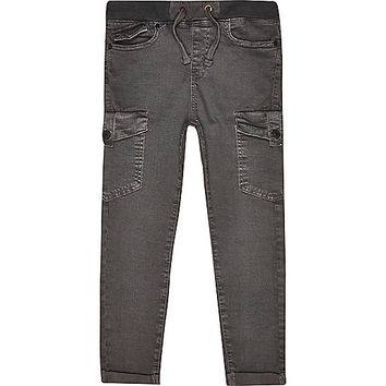 River Island Boys black skater pants