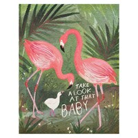 Flamingo Baby Greeting Card