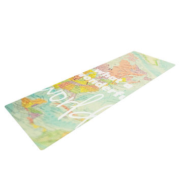 "Libertad Leal ""What a Wonderful World"" Map Yoga Mat"
