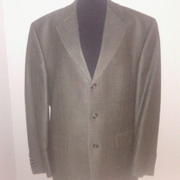 Men's Ralph Lauren Vintage Silk & Wool Suit Coat/ Blazer. Sz. 42R 2 button front. Excellent Condition.