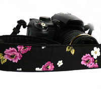 Flowers Camera Strap. dSLR Camera Strap. Nikon Camera strap. Canon camera strap.Women accessories