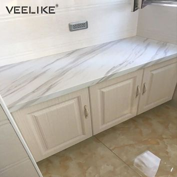 Bathroom PVC Self Adhesive Wallpaper Marble Wall Sticker Waterproof Kitchen Countertops Table Furniture Cupboard Contact Paper