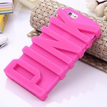 PINK 3D Letter Case for iPhone