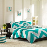 Mizone Libra Duvet Cover Set - Blue - Twin/Twin XL