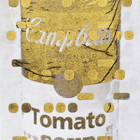 It's All Derivative: Campbells Soup in Gold, Negative, Bill Claps | Artspace.com