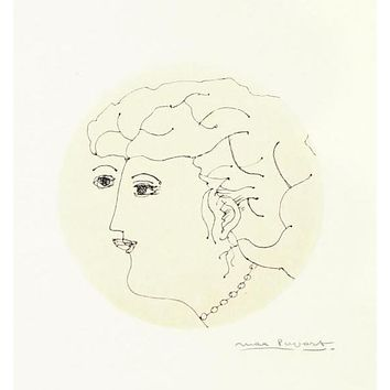 Untitled Original Ink Drawing on Paper by Max Papart (1911-1994)