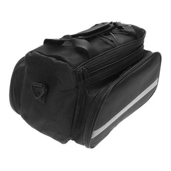 Bicycle Rear Seat Bag Large Capacity Bike Carrier Rack Seat Trunk Bag with Rain Cover Rain-proof Bicicleta accessories