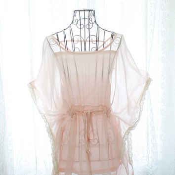 Rosort fairytale sheer chiffon pale pink butterfly by miadressshop