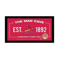 Steiner Sports St. Louis Cardinals Framed 6'' x 12'' Man Cave Sign with Game Used Dirt (Crd Team)