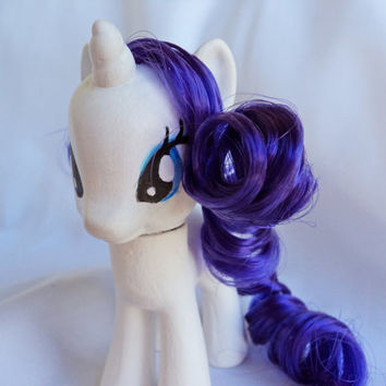 Rarity MLP Pony Custom G4 Purple Rooted Hair