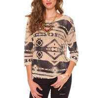 Adele Aztec Knit Top