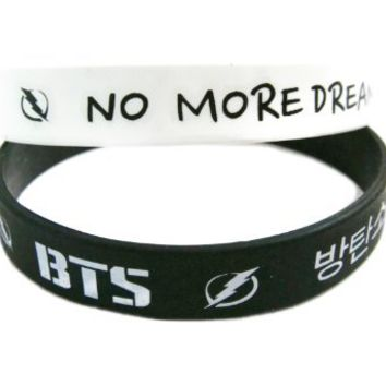 2 PC BTS /Bangtan Boys /Bulletproof Boy Scouts Boy Band Kpop Accessories Wristband (#001)