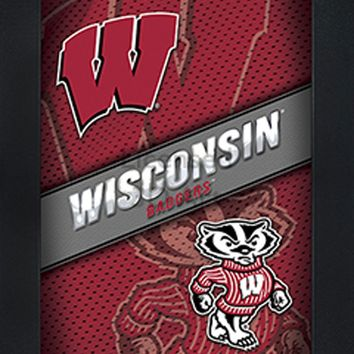 Wisconsin Badgers | 3D Art | LED Back Lighting | Framed | NCAA