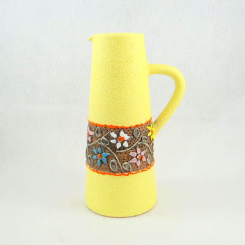 Fratelli Fanciullacci Pottery Pitcher from 1950s