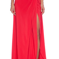 Assali Calia Maxi Skirt in Red