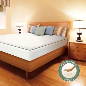 Enhance 1 1/2-in. Memory Foam Mattress Topper (White)