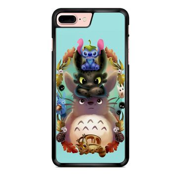 Favorite Totoro Stich And Toothless iPhone 7 Plus Case