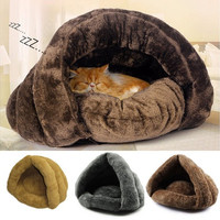 Soft Kitten Cat/Dog House Puppy Cave Pet Sleeping Bed Mat Pad Igloo Nest Gift [8270412801]
