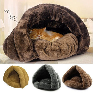 Soft Kitten Cat/Dog House Puppy Cave Pet Sleeping Bed Mat Pad Igloo Nest Gift [9305911175]