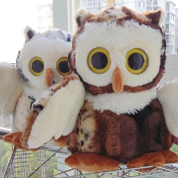 Pair of Owls Stuffed Animal Plush Toys
