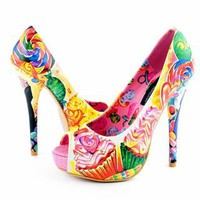 Iron Fist Sweets For My Sweet Platform Heels - Pink