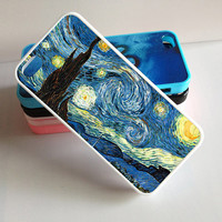 iphone 4 case,Vincent Van Gogh Starry Night , iphone 4s case ,Personalized custom,hard case,Rubber iphone cover, Silicon for iphone 4 cover