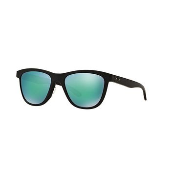 Cheap Oakley Womens Sunglasses - Moonlighter - Polished Black, Jade Iridium - OO9320-1