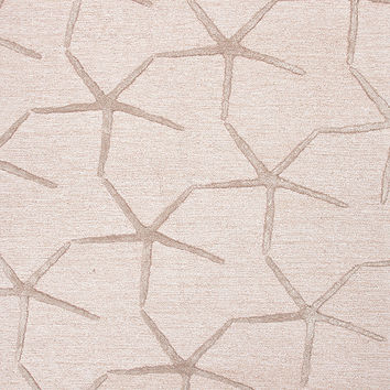 Coastal Living Hand Tufted Collection Starfishing Rug in Beige design by Jaipur