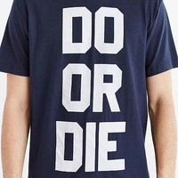 Deter Do Or Die Tee- Navy