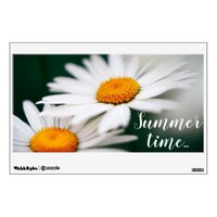 "Two pretty daisies. Add text. 12""x18"" Wall Decal"