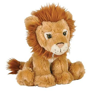 "8"" African Lion Stuffed Animal Plush Floppy Zoo Species Collection"