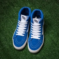 VANS SK8 Hi Blue High help all Zhenmau leather couple shoes