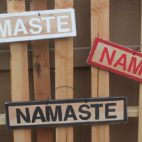NEW Fun inspirational Signs Wood Art Decor Wall art Hanging decor Namaste Yoga
