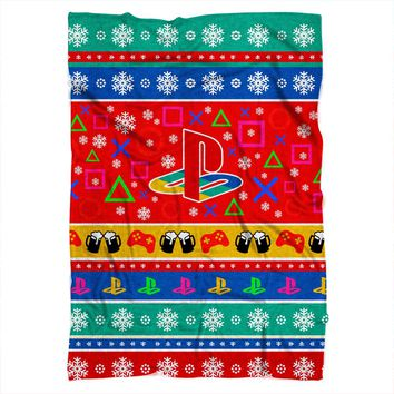 Playstation Christmas Blanket