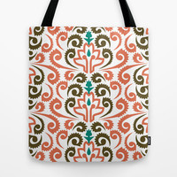 Moroccan Damask Tote Bag by Raven Jumpo
