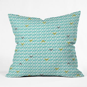 Heather Dutton Take Flight Aqua Throw Pillow